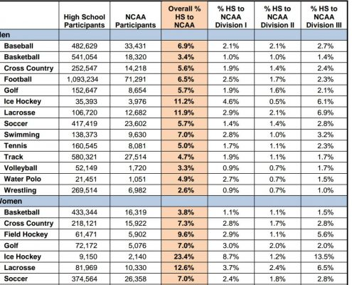 NCAA Participation Numbers